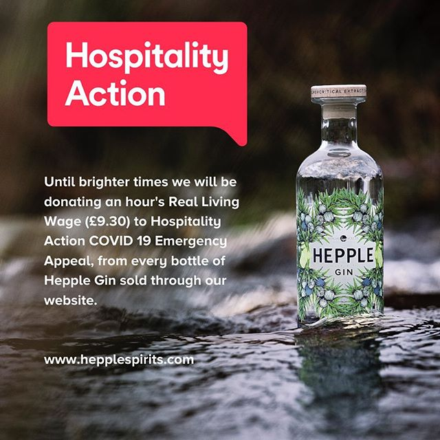 Thinking of all our hospitality friends at this difficult time. Go well and love from the Hepple Spirits team. @hospitalityaction - from Instagram