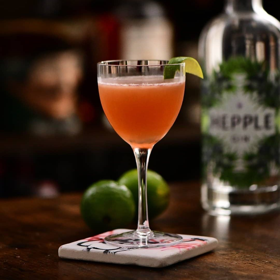 One to try this weekend #repost • @cocktailcircus_ Charlie Chaplin with a kick.25 ml Hepple gin @hepple_spirits25 ml Crème d'abricot @merletspirits25 ml Hepple Sloe & Hawthorn gin 25 ml Lime juice Shake and fine strain in a cocktail glass. Garnish with an expressed lime peel.This awesome Nick & Nora cut glass is made by @arrowartofglass The original Charlie Chaplin cocktail doesn't have any gin actually. It was one of the premier drinks of the Waldorf-Astoriain #NewYorkCity before 1920. Named in honor of Charlie Chaplin (1889–1977). Who was , I hope everyone know, a silent film comedic actor and also a filmmaker (1920s -1940s ish). - from Instagram